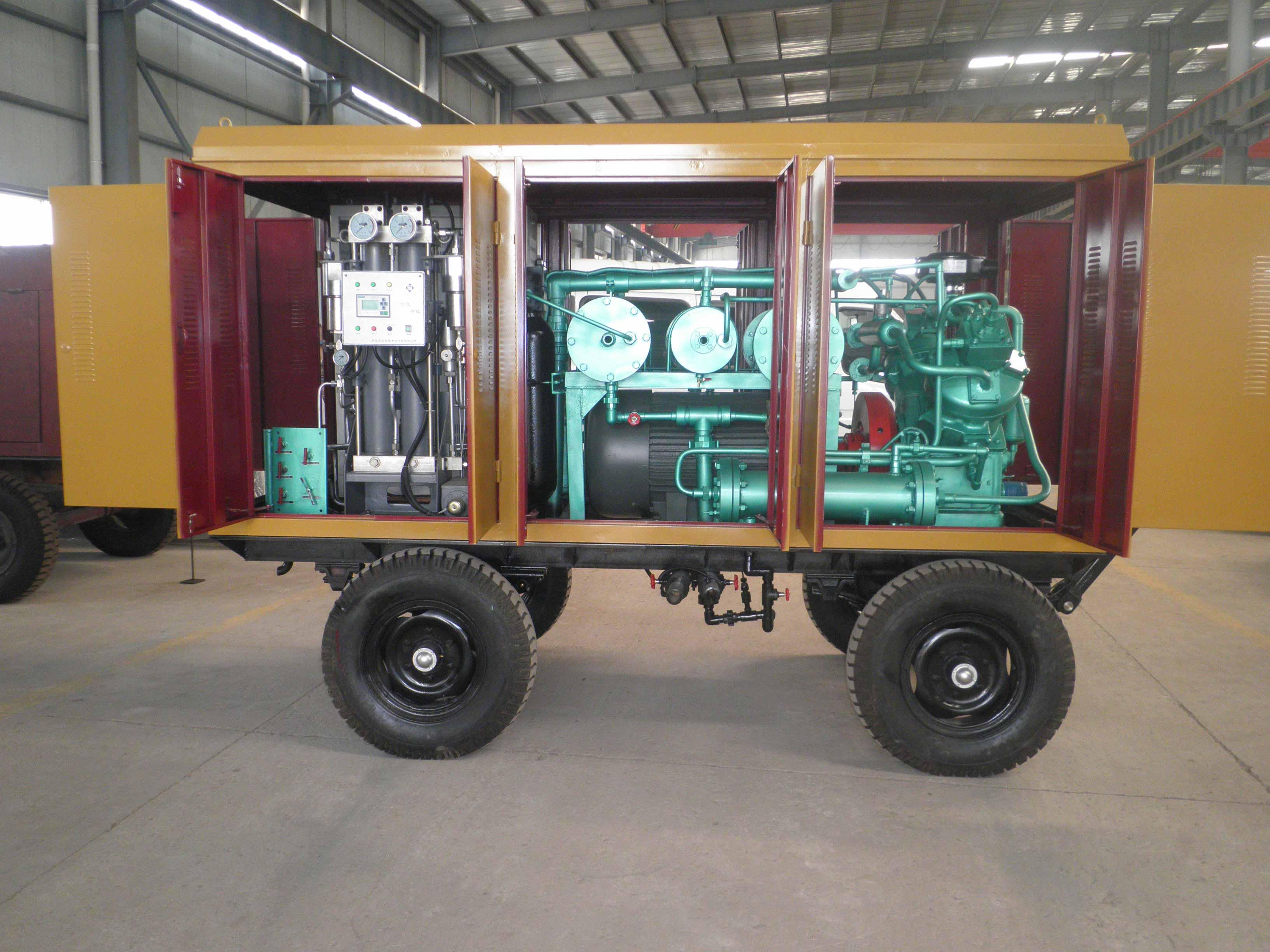 V-3立方-350公斤移动式无油空气压缩机系列(出口朝鲜)